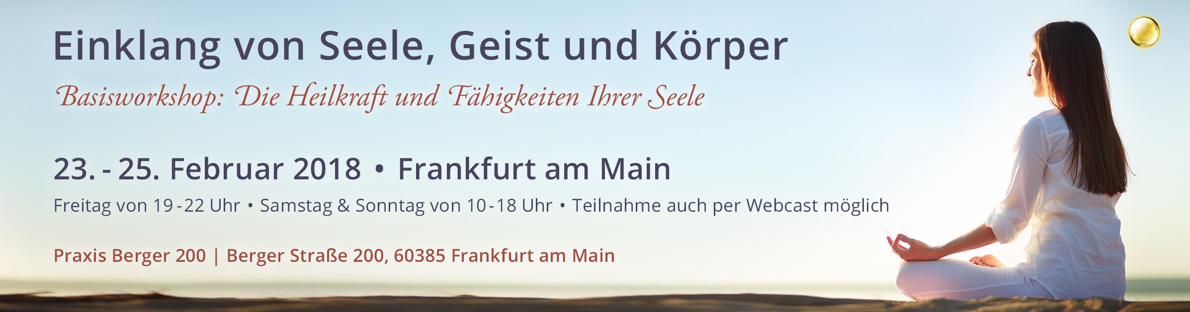 Einklang von Seele, Geist und Körper – Einführung in die Seelenheilung | Frankfurt am Main