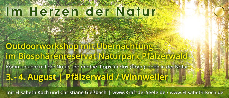 20190803 | Outdoor Workshop – Seelenkommunikation mit der Natur im Biosphärenreservat Naturpark Pfälzerwald